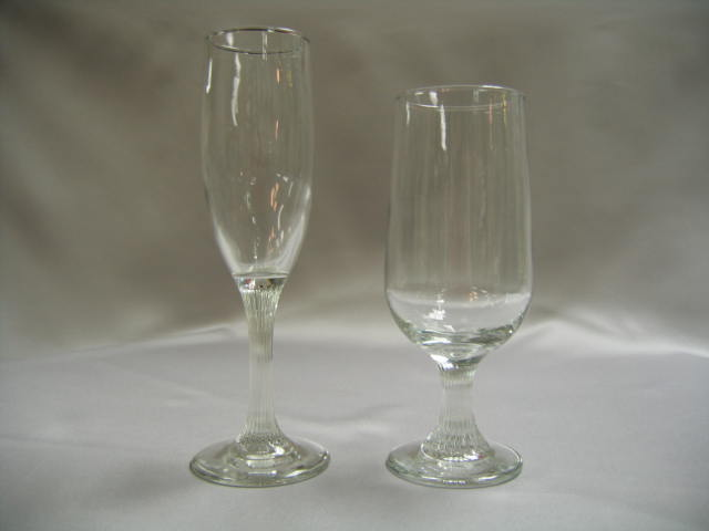 Champagne Flute & Beer Glass